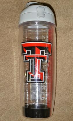 Tervis Texas Tech Water Bottle - Gray Lid - 24 oz - Red Raid