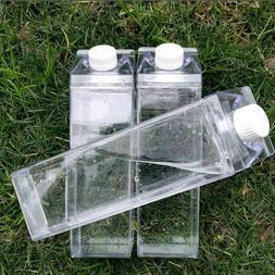 Transparent Milk Box Milk Juice Water Bottle Outdoor Drinkin