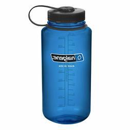 Nalgene Tritan Wide Mouth 32 oz. Water Bottle, Blue - NEW