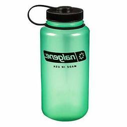 Nalgene Tritan Wide Mouth BPA-Free Water Bottle, Glows Green