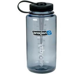 Nalgene Tritan Wide Mouth BPA-Free Water Bottle, Red w/ Blac