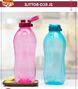 Tupperware 2 Litre Flip Top Water Bottles Set of 2 -New With