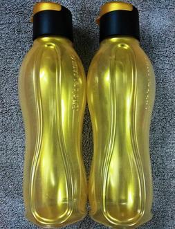 Tupperware  750  ML GOLDEN  Flip Top  Water  Bottles  -  Set