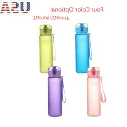 US BPA Free Leak Proof Sports Water Bottle Tour Hiking Drink