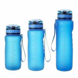 US Men Women Sports Water Bottle Fitness Hiking Running Trav