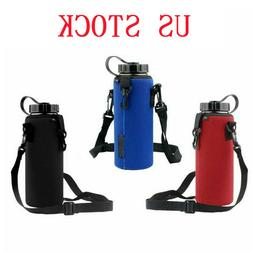 US Neoprene Water Bottle Outdoor Carrier Insulated Cover Bag