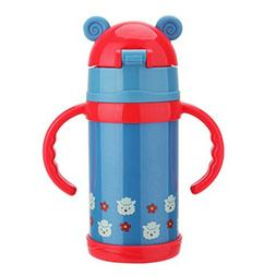 Vacuum Insulated Stainless Steel Kids Bottle Water Mug Cup P