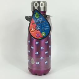 Tac Water Bottle 9oz Stainless Steel Purple Owls Kids Double
