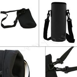 Water Bottle Carrier Neoprene Insulated Cover Bag Holder Str