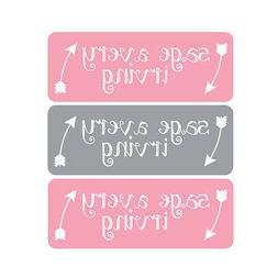 Waterproof Name Labels, Baby Bottle, Daycare, School, Pink,