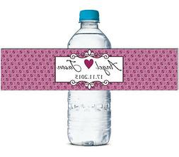 Waterproof Water Bottle Labels Save The Date Self Adhesive S