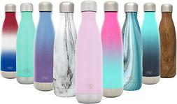 wave water bottle vacuum insulated leak proof
