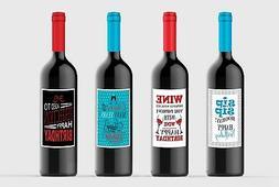 Wine bottle Labels Birthday Party Celebration Custom for Fou