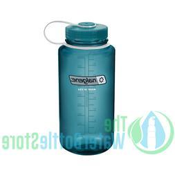 Nalgene Tritan Wide Mouth BPA-Free Water Bottle, Cadet W/ Ca