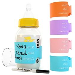 Writable, Reusable Labels For Daycare, Baby Bottle Labels. W