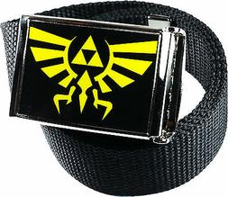 Zelda Triforce Black Yellow Belt Buckle Bottle Opener Adjust