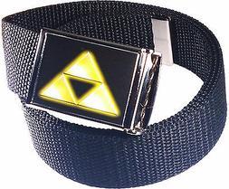 Zelda Triforce Logo Belt Buckle Bottle Opener Adjustable Web